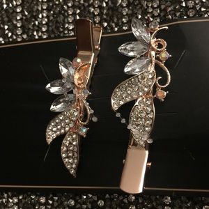 Bridle Crystal Hair Beak Clips